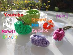Crochet Recuerdos Souvenirs Zapatitos (Parte 1) para Baby Shower, Bautis...