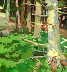 Fairfield Porter 1907 - 1975 Woods And Rocks