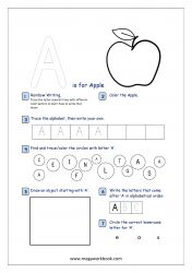 Alphabet Recognition Activity Worksheet - Capital Letter - A For Apple Letter Q Worksheets, Capital Letters Worksheet, Alphabet Activities, Preschool Worksheets, Preschool Math, Educational Activities, Alphabet Writing Practice, Alphabet Tracing, Letter Song