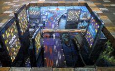 Foto de pintura em calçadas por Julian Beever