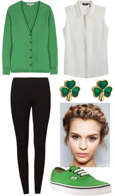 """St-Patrick's day outfit♥"" by alizannesevigny ❤ liked on Polyvore"