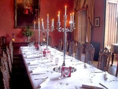 Dining Room,  Castle Oliver, Ireland.