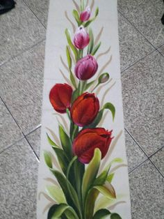 One Stroke Painting, Fabric Painting, Black And White Flower Tattoo, Flower Tattoo Designs, Decorative Tile, Beautiful Roses, Diy Art, Flower Art, Printing On Fabric