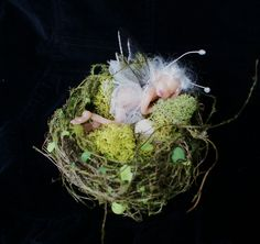 """fairy sleeping in bird nest....fae = 3"""""""