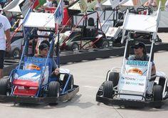 kyle larson jeff gordon | Kyle Larson (left) joined Jeff Gordon (right), four-time NASCAR Cup ...