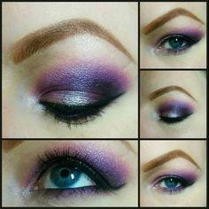 My purple and silver makeup @rvatuksu instagram