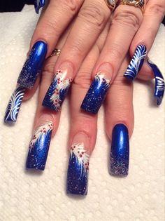 Xmas Blues by AlysNails - Nail Art Gallery nailartgallery.nailsmag.com by Nails Magazine www.nailsmag.com #nailart