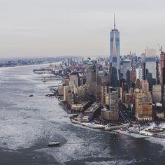 New York City Feelings - Frozen city by @jnsilva #nyc