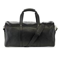Black Vantage Weekender in premium grained black leather. www.urbansafarilondon.com