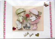 Be Mine  HandCrafted 3D Decoupage Card  With Love by SunnyCrystals, £1.45  #SunnyCrystals #card #valentines #3dcard