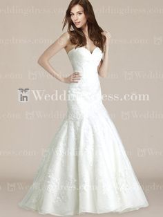 Vintage Strapless Lace Mermaid Wedding Dress DE333N    DROOL.
