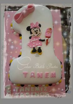 1 st cake, minnie mouse cake