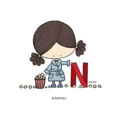 Netflix, Stick Figure Drawing, Tumblr Me, Dibujos Cute, Dear Diary, Stick Figures, Design Art, Hello Kitty, Doodles