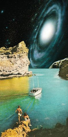 Artist Eugenia Loli creates interstellar digital collages using analog photographs from across the decades.