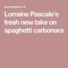Lorraine Pascale shows busy home cooks how to create a no-fuss spaghetti carbonara, making the perfect mid-week meal for the dinner table Slow Cooker Recipes, Cooking Recipes, Healthy Recipes, Healthy Dinners, Healthy Eats, One Pot Dishes, Pasta Dishes, Main Dishes, Food N