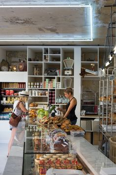 A Bakery with a New Aesthetic Liberté Patisserie Boulangerie by Benedict Castel in Paris, Photo by Mimi Giboin Bakery Interior, Retail Interior, Interior Shop, Interior Design, Bakery Cafe, Paris Bakery, Cafe Shop, Cafe Bar, Bar Design