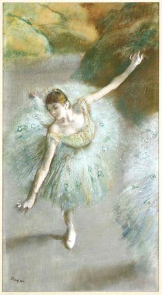 Балерина в зелёном (ок.1883). Edgar Degas (1834-1917) Portugal Receitas Информация на нашем сайте https://storelatina.com/portugal/recipes #پرتغال #tourism #ប្រទេសព័រទុយហ្គាល់ #पोर्तुगाल