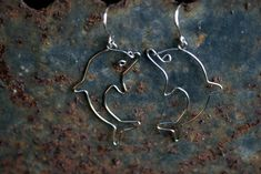 Surgical wire cute dolphin earrings animal by CinkyLinky, $17.00