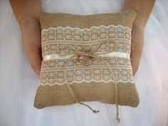 Ivory or White lace ring pillow 6 x 6 NEW DESIGN Original design Made to your order Designed and handcrafted by Nataly Georgiadou-Rudaya - a