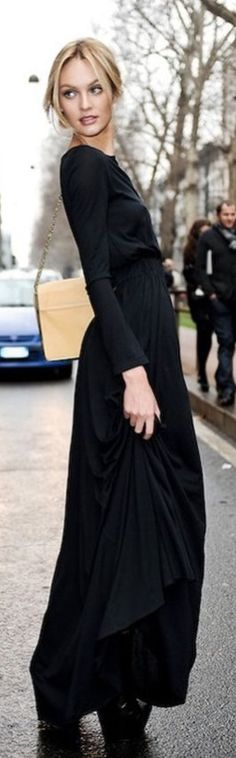 Candice Long Black Dress, Gorgeous