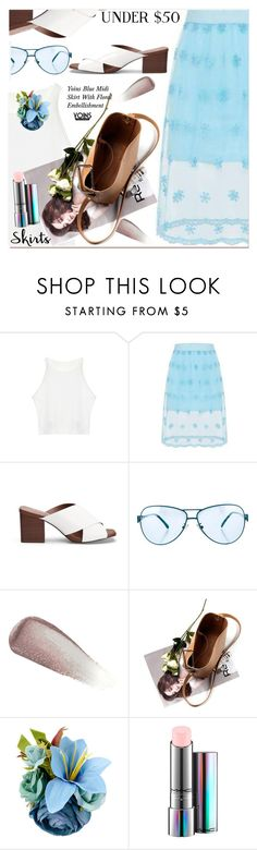 """""""Skirts Under $50"""" by paculi on Polyvore featuring Emilio Pucci, Yves Saint Laurent, MAC Cosmetics, under50 and skirtunder50"""