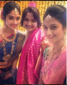 Pakistani Wedding Outfits, Saree Wedding, Wedding Wear, Wedding Looks, Bridal Looks, Bridal Style, South Indian Bridal Jewellery, Indian Jewellery Design, Saree Color Combinations