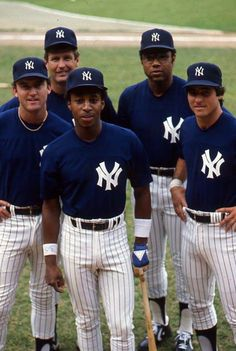 1980 New York Yankees (L to R) Graig Nettles, Tommy John, Willie Randolph, Bob Watson and Bucky Dent