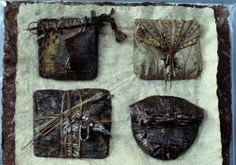 Inga Hunter / Robes of the Imperium / Four Amulets / Forest People,10th Century Post Imperium amulet. Made of natural materials, contain protective devices, beads, fetishes, coral, beetle antennae etc. Every mother makes one as her first gift to her baby...