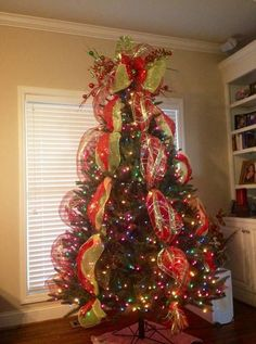 christmas tree decorating with mesh christmas tree with mesh ribbon - Mesh For Christmas Tree Decorating
