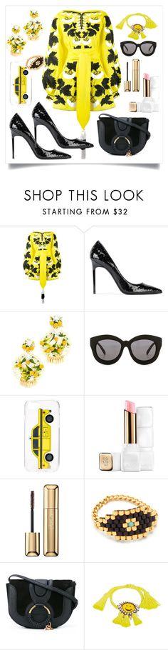 """Kalyna Dress..**"" by yagna ❤ liked on Polyvore featuring Yuliya Magdych, Yves Saint Laurent, Mercedes Salazar, Seafolly, Kate Spade, Guerlain, Dodo Bar Or, See by Chloé and Shourouk"