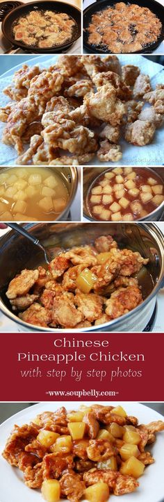 Chinese Pineapple Chicken is easy to make and is similar to lemon chicken, or sweet and sour chicken sans red food coloring.