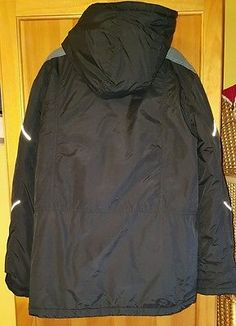 Marks and Spencer Black Padded Zip Hooded Coat Jacket Size 13-14 years,164 cm