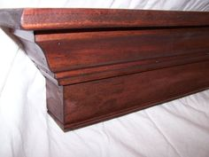 "60"" Length Crown Molding Shelf, Fireplace Mantle, Headboard--mahogany Or…"