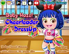 Show off your fashion taste and dress up Baby Hazel in most trendy cheerleader outfits and accessories http://www.topbabygames.com/baby-hazel-cheerleader-dressup.html