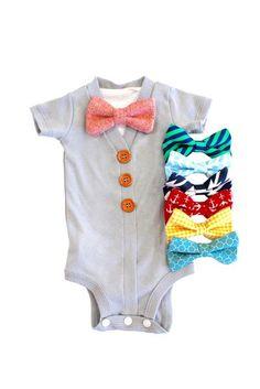 d0f14f21c5ec Gray Cardigan Onesie Bowties. Gray Cardigan Onesie Bowties Neutral Baby  Clothes ...