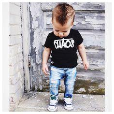Chaos tee from Little Wonderland Clothing   #alternative #monochrome #kiddietee #fun #toddlers #kidsfashion #instagood #ootd #potd #streetwear #hipkids #music #fashion #styleblogger #streetfashion #chaos#boys #littlewonderlandclothing