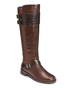 Brown Bridel Suite Wide Calf Boot | Daily deals for moms, babies and kids