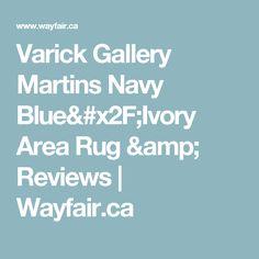 Varick Gallery Martins Navy Blue/Ivory Area Rug & Reviews | Wayfair.ca