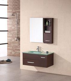 Annabelle 40 Inch Modern Bathroom Vanity Espresso Finish bt-adornus alexa 30-inch modern bathroom vanity set - wenge