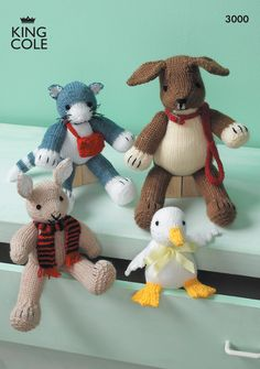 Toys Knitted in Various King Cole DK - King Cole