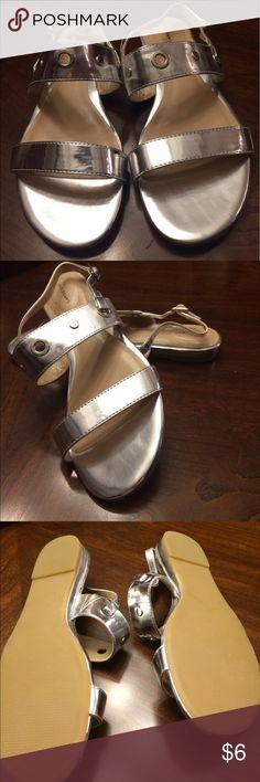 Lands End gold sandals. NWOT SIZE 7.5 Gold Lands End sandals, never worn. Size 7.5 Lands' End Shoes Sandals