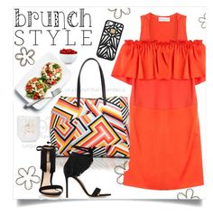 """brunch with friends"" by juliehooper ❤ liked on Polyvore featuring Sonia Rykiel, Tory Burch, Gianvito Rossi, Hervé Léger, The Cellar and brunchstyle"
