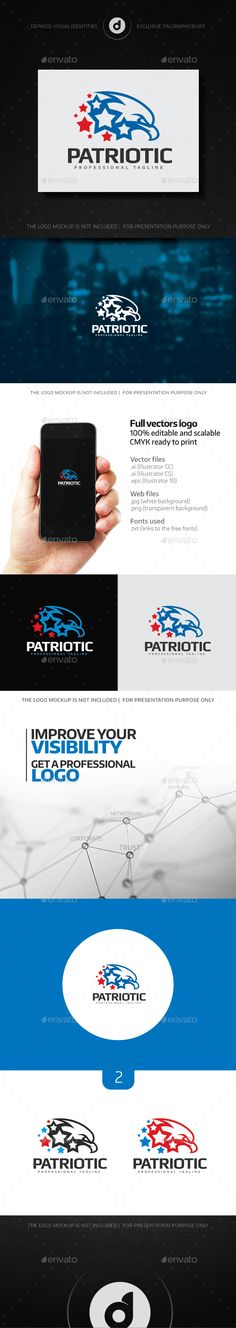 Patriotic Logo — Transparent PNG #liberation #liberty • Available here → https://graphicriver.net/item/patriotic-logo/14530839?ref=pxcr