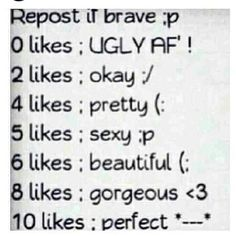 """:) I personally don't like 5 but 6 is the one I like to be called. Especially when guys say a girl is beautiful. It just sounds much better than saying a girl is """"sexy"""" sooo that's my tbh lol"""