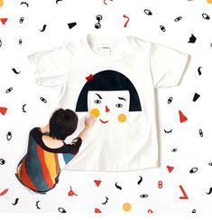 密買東京|偶然のおかしみ|商品概要(福笑いティーシャツ、横顔のミトン - LAUGH AND MAKE (ラフアンドメイク) -)