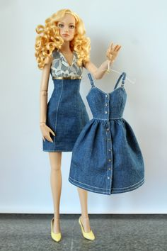 Sewing Barbie Clothes, Barbie Sewing Patterns, Barbie Dolls Diy, Doll Dress Patterns, Barbie Dress, Clothing Patterns, Accessoires Barbie, Manequin, Barbie Fashionista