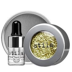 Best High Drama Metallic Eyeshadow (Expensive): Stila Magnificent Metals Foil Finish Eye Shadow- So beautiful, you can't look away! When you want to dangle something sparkly in front of your prey, this is the eyeshadow to reach for! Metallic Eyeshadow, Cream Eyeshadow, Sparkle Eyeshadow, Metallic Makeup, Metallic Gold, Silver, Sephora, Beauty Makeup, Eye Makeup