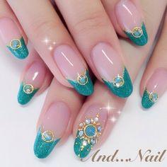 かわいいネイルを見つけたよ♪ #nailbook Love Nails, Pretty Nails, My Nails, Cute Nail Art, 3d Nail Art, Frozen Nails, Cute Spring Nails, Japanese Nail Art, Nail Candy