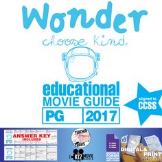 This #WonderMovie Guide challenges students to get in touch with their #empathetic and #sympathetic nature by analyzing the stories within this incredible film. #Auggie #GoogleClassroom #GoogleForms #Teachers #MovieGuides #LessonPlans #TPT #TeachersPayTeachers #CCSS #CoronaVirus #Homeschooling #RemoteLearning #DistanceLearning #StaySafe