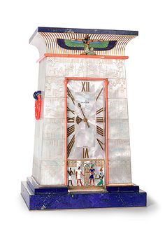 Art Deco Egyptian Striking Clock - 1927 - by Cartier Paris - super awesome! Art Nouveau, Sistema Solar, Mystery Clock, Art Deco Artwork, Art Occidental, Art Ancien, Antique Clocks, Vintage Clocks, George Vi